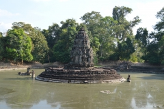 temple in water